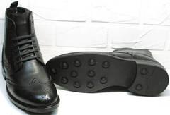 Модные мужские зимние ботинкиLucianoBelliniBC3801L-Black.