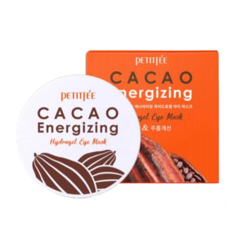 Гидрогелевые патчи от отечности и темных кругов с какао Petitfee Cacao Energizing Hydrogel Eye Patch