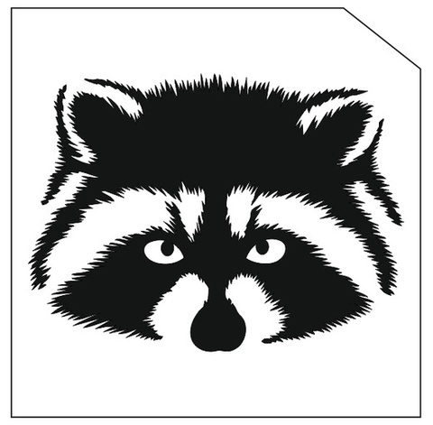Трафарет для блеск-тату 6*6 животное 323Ж