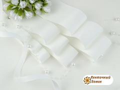 Лента репсовая белая шириной от 6 до 56 мм