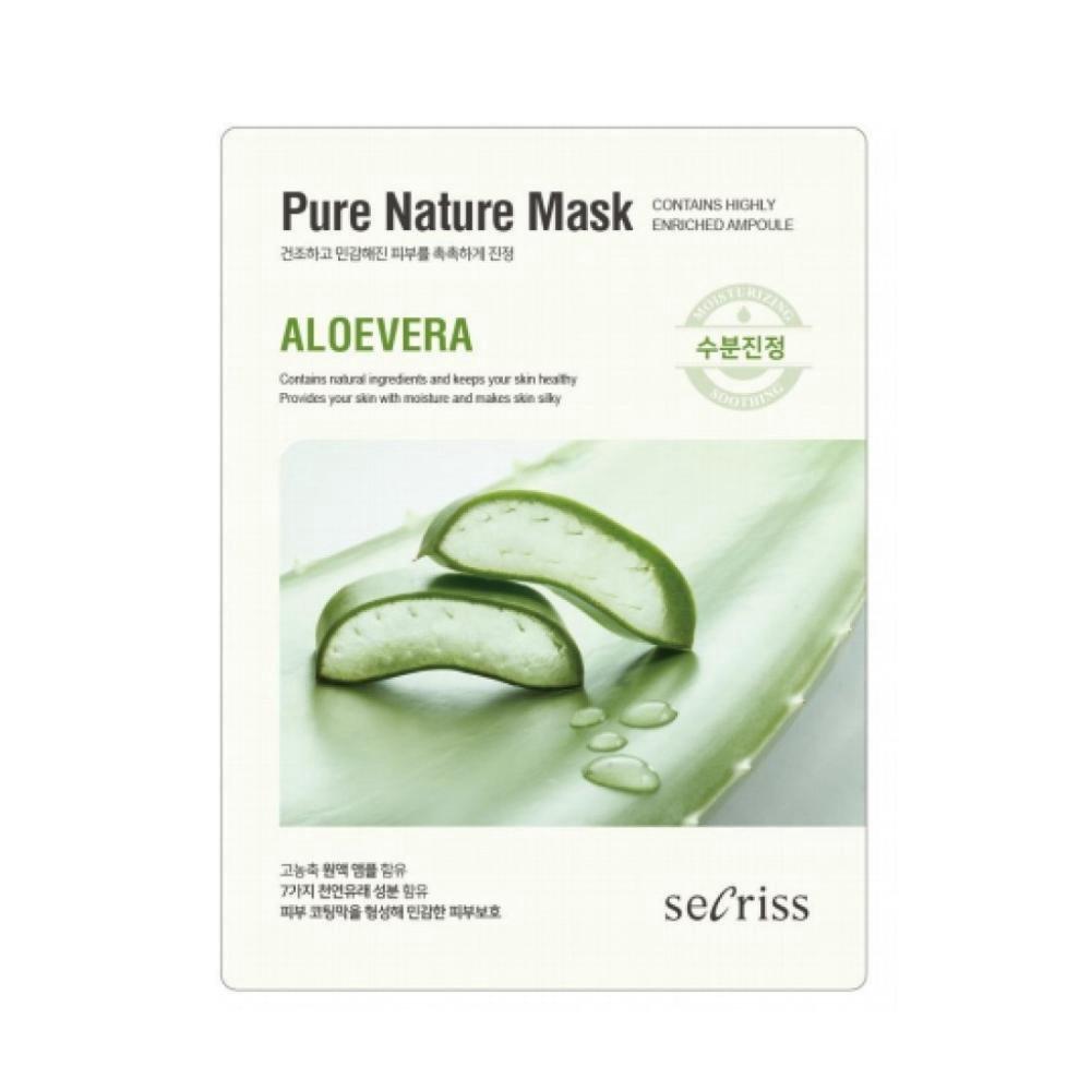 Тканевая маска для лица с алое Secriss Sheet Mask - Aloe Vera