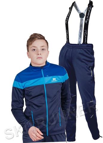 Детский утеплённый лыжный костюм Nordski Jr. Drive Blueberry-Blue