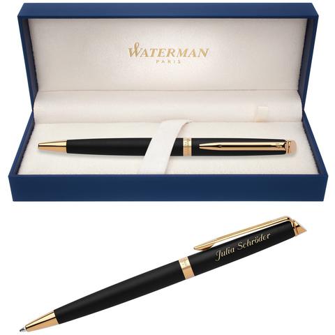 Шариковая ручка Waterman Hemisphere, цвет: MatteBlack GT, стержень: Mblk123