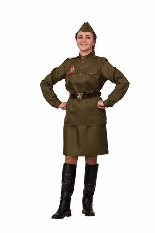 Карнавальный костюм взрослая Солдатка (хлопок)