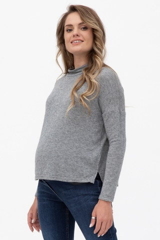 Джемпер для беременных 09925 серый
