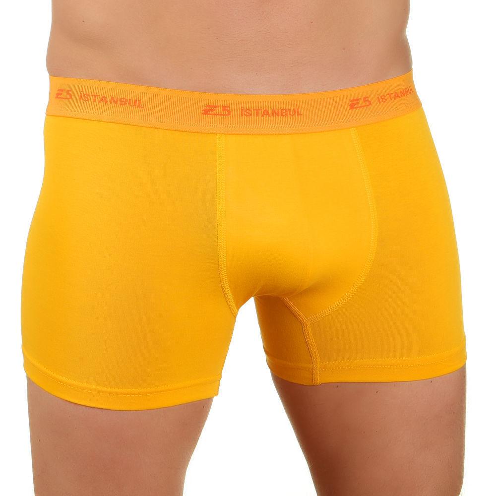 Мужские трусы E5 Underwear боксеры желтые