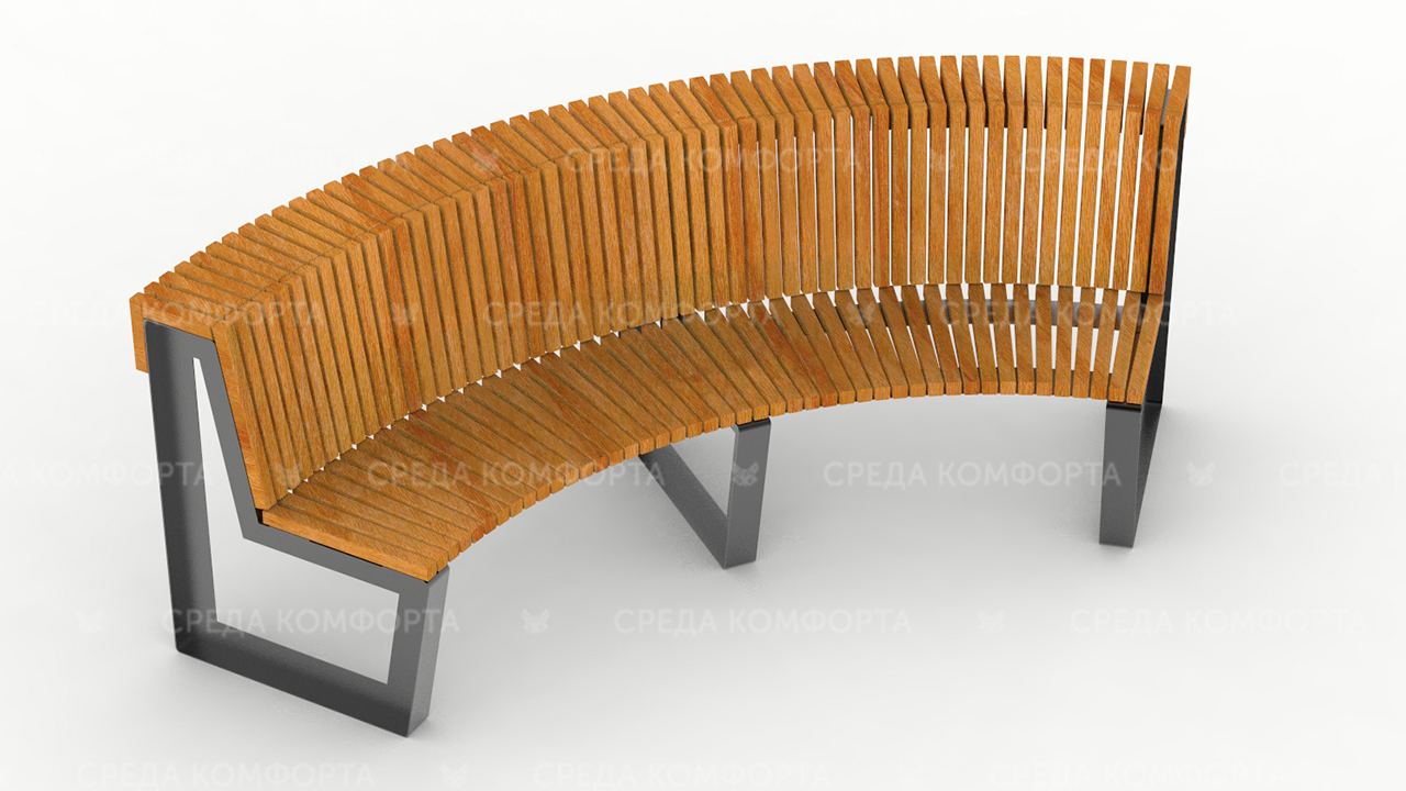 Полукруглая скамейка SCAM0006