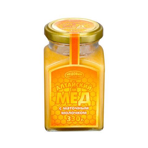 Алтайский мёд с маточным молочком, 320 г