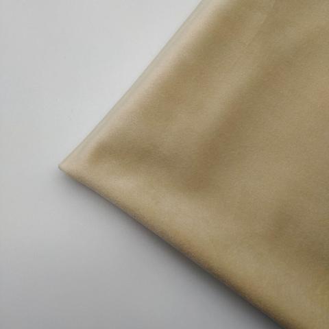 Бархат матовый стрейч, ворс 0,5 мм., 2 кремовый (выбрать  размер)