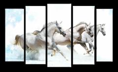 "Модульная картина ""Три белых коня"""