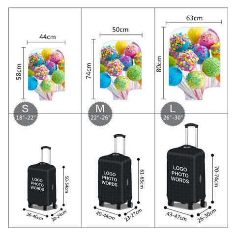Чехол для чемодана - Десерт