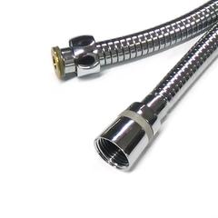 Шланг для душа Zegor WKR - 007. Изготовлен из экологически чистого материала EPDM (этиленпропиленовый каучук ISO-4097). Шланг снабжен двумя конусными фитингами ½ х ½ для подключения душа. Максимальное давление 12 bar при рабочей температуры воды 75 º C. Степень деформации при растяжении 122%. Металлизированная оплетка с нержавеющей стали с двойными замкам обеспечивает максимальную прочность на натяжение до 50 кг. Наличие подшипника, не даст шлангу перекручиваться, тем самым увеличивает срок службы изделия.