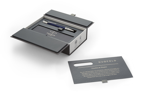Шариковая ручка Parker Duofold Classic International, Blue and Black CT, MBlack123