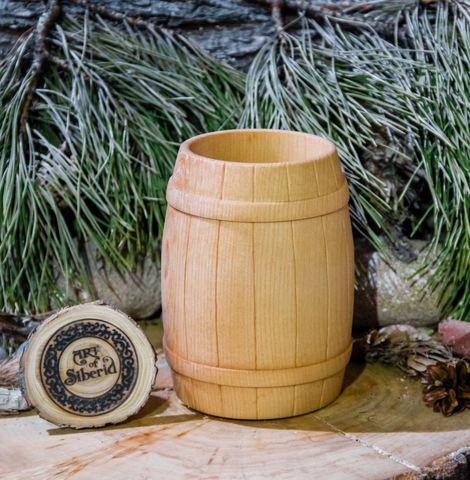 Бокал для виски из дерева «Бочонок»