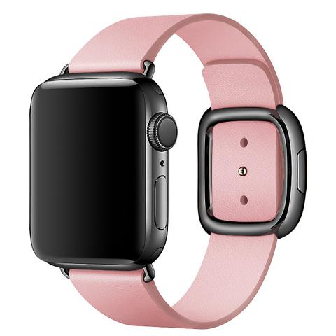 Ремешок Apple watch 42mm Modern Buckle Leather black /pink/