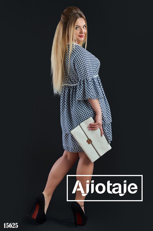 Платье синего цвета в стиле