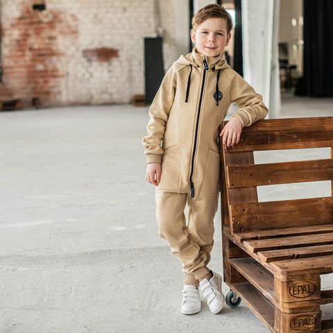 Transformer jumpsuit with flap for teens - Safari