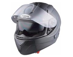 Мотошлем - PROBIKER PR2 (металлик, черный)