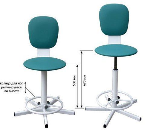 Винтовой стул-кресло М101-04 - фото
