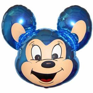Фольгированный шар Мышонок голубой 68 X 48см