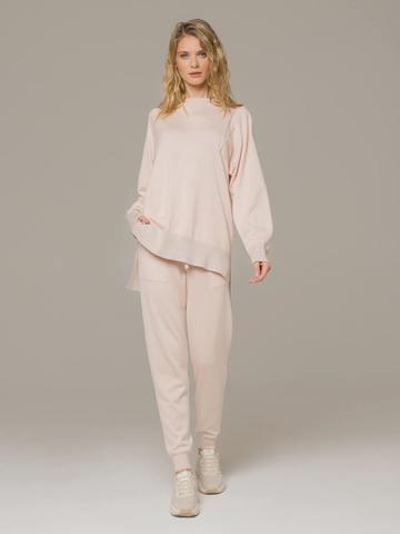 Женские брюки светло-розового цвета из шелка и кашемира - фото 3