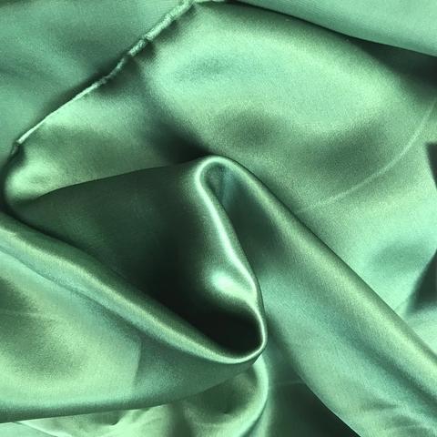 Шелк темно-зеленый с эластаном 1076