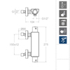Смеситель термостатический для душа URBAN CHIC 213401S - фото №2