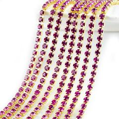 Купить оптом стразовую цепочку в Санкт-Петербурге Fuchsia розовую
