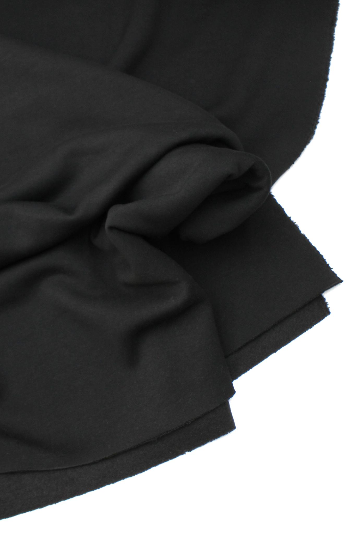 Футер 3-ка с начесом. Черный, 330гр