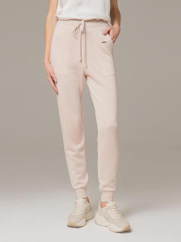 Женские брюки светло-розового цвета из шелка и кашемира - фото 2