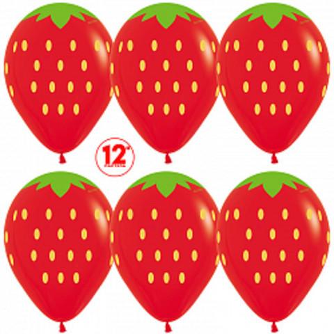 S 12''Клубника, Красный (015), пастель, 5 ст.