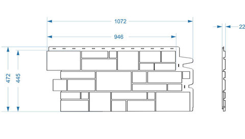 Фасадная панель Деке Замок 946х445 мм Оливковый