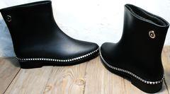 Резиновые сапожки женские Hello Rain Story 1019 Black.
