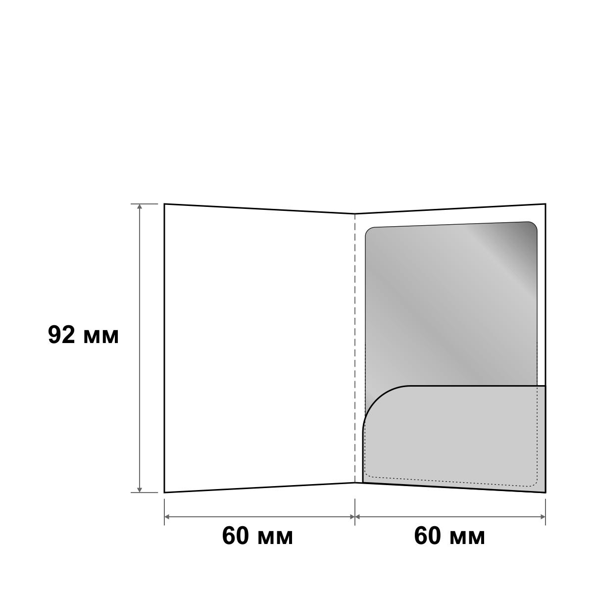 Кардхолдер с овальным карманом для пластиковой карты 60x92 мм
