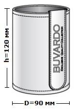 Размер стакана в коже Н12 высота 12 см диаметр 9 см.