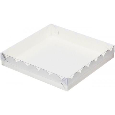 Коробочка, белая, 25*25*3 см