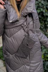 Дутая женская куртка длинная с капюшоном недорого