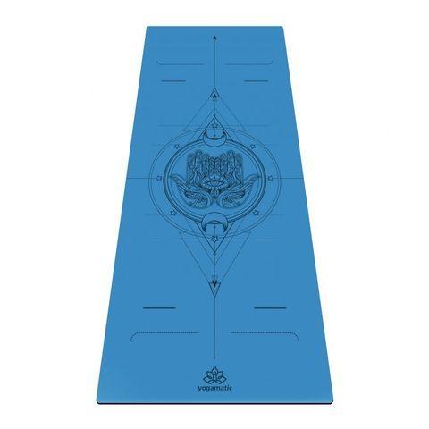 Каучуковый йога коврик для йоги Hamsa new Art 185*68*0,4 см