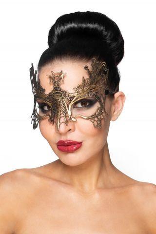Золотистая карнавальная маска  Селена