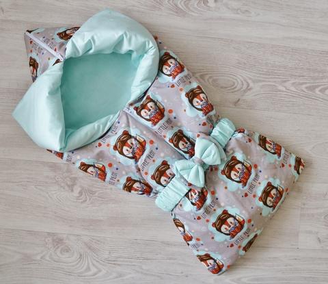 Летнее одеяло - конверт - трансформер на выписку Рыжик