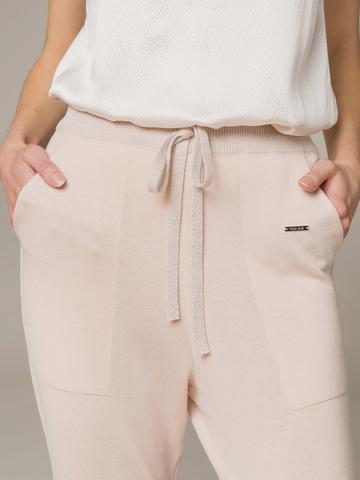 Женские брюки светло-розового цвета из шелка и кашемира - фото 5