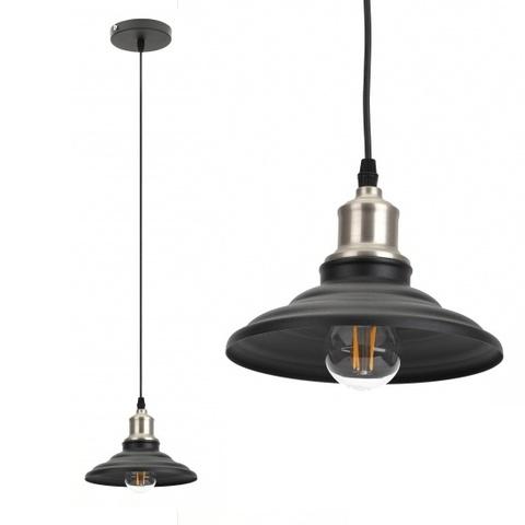 Подвесной светильник Эра PL4 BK/BN черный/никель