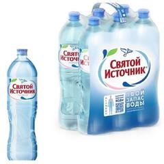 Вода питьевая Святой Источник негазированная 1.5 л (6 штук в упаковке)