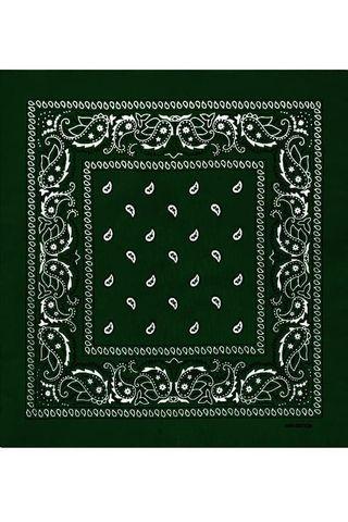 Темно-зеленая бандана фото