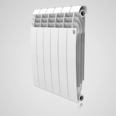 Алюминиевый радиатор Royal Thermo Biliner Alum Bianco Traffico 500 (белый)  - 6 секции