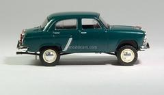 Moskvich-410 dark green 1:43 DeAgostini Auto Legends USSR #42