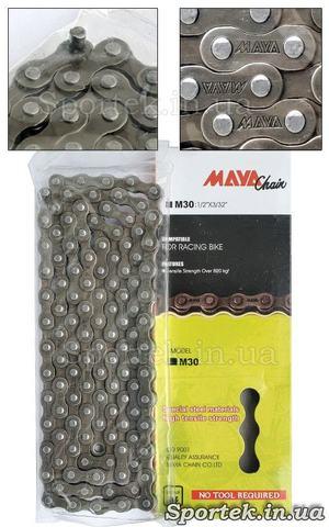 Велосипедная цепь Maya Chain M30 на 6 звезд