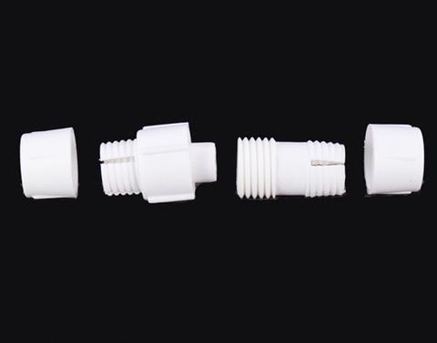 Разьем для сращивания шлангов дюралайт между собой лед LED пвх сеть соединитель штепсель