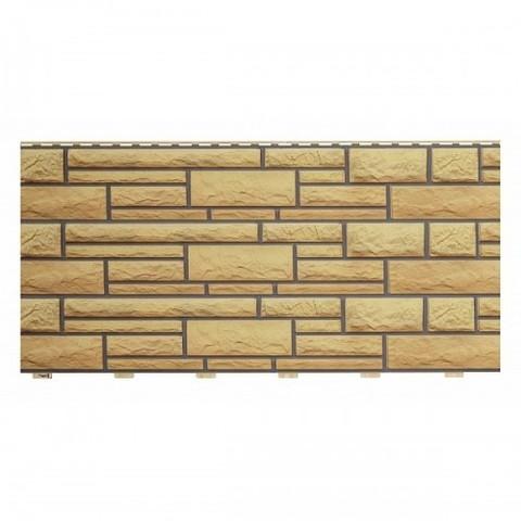 Фасадные панели (Цокольный Сайдинг) Доломит NEW Имбирь