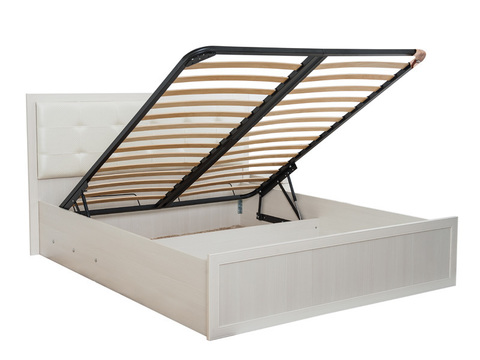 Кровать двойная Ника-Люкс 52 с подъемным механизмом Ижмебель 160х200 дуб бодега